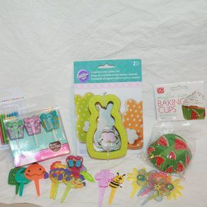 Easter Spring Summer Cookie cutter Cupcake liners